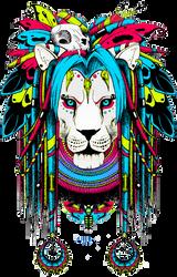 Shaman lion by quidames
