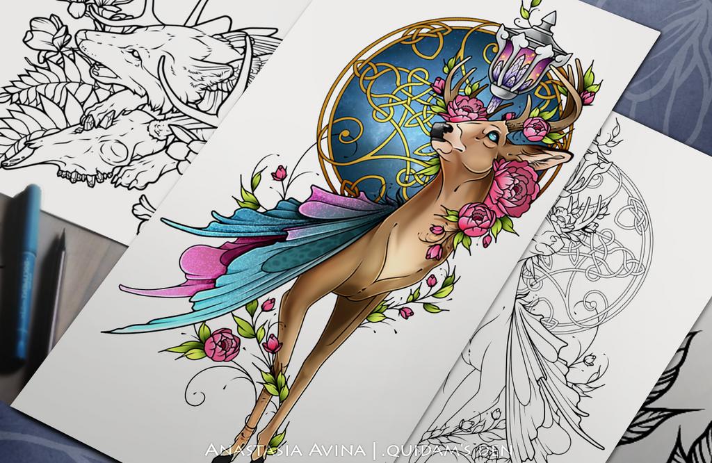 Deer by quidames
