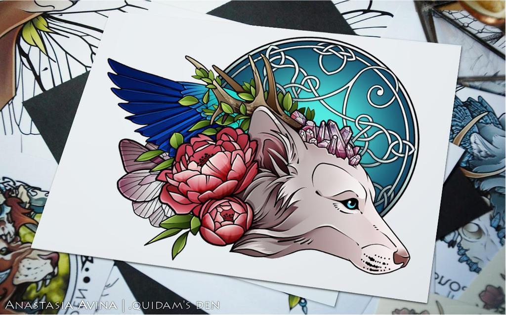 Wolf's spirit by quidames