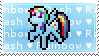 Rainbow Dash Stamp by tamagotchi