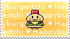 Happyburgertchi Love Stamp by tamagotchi