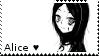 Monochrome Alice Stamp by tamagotchi