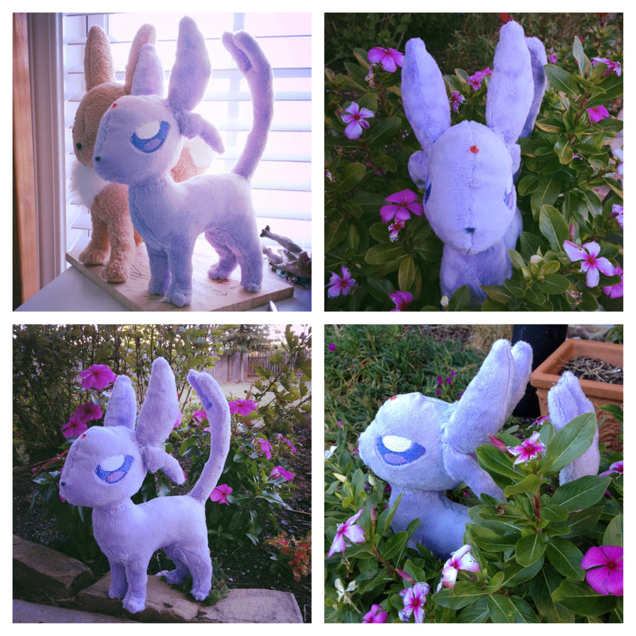 Espeon Plushie by Inky-Wolf-Tracks