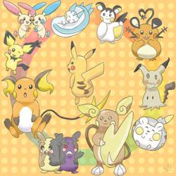 Pikachu all generation