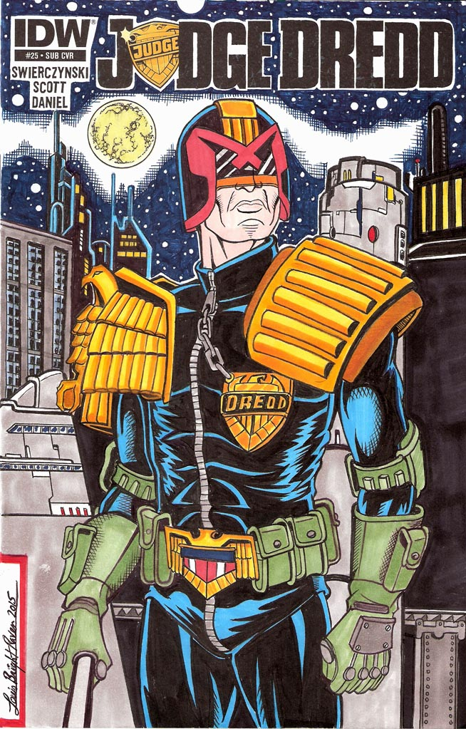 JudgeDredd25sketchcoverFinal by Bright-Raven