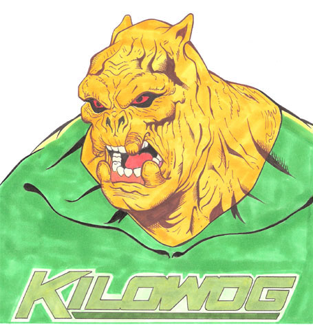 Kilowog Bust sketch (AVAILABLE) by Bright-Raven
