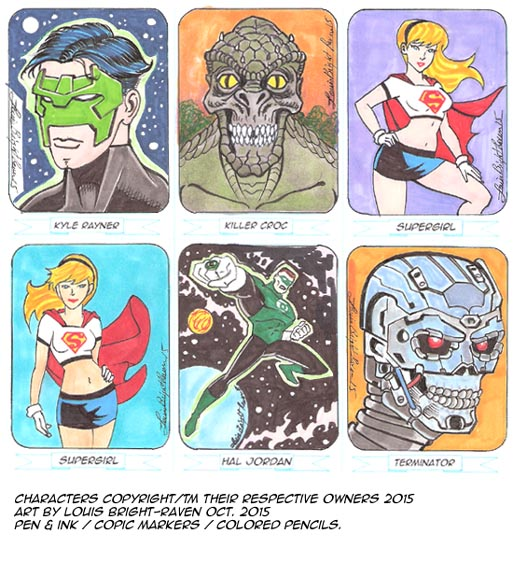 Sketchcards October 2015 Set 5 by Bright-Raven