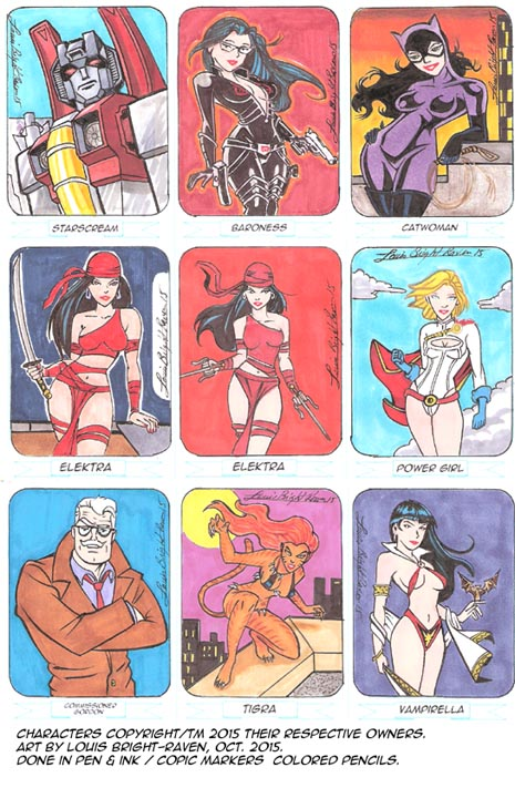 Sketchcards October 2015 set 4 by Bright-Raven