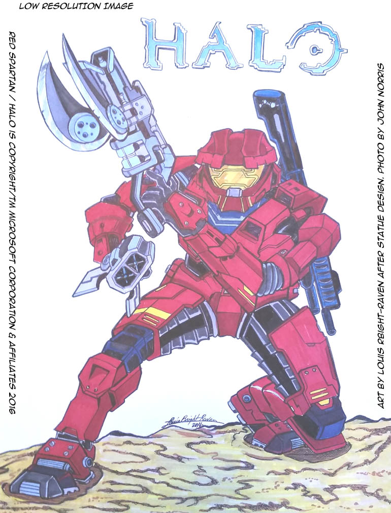 HALO: Red Spartan (AVAILABLE) by Bright-Raven