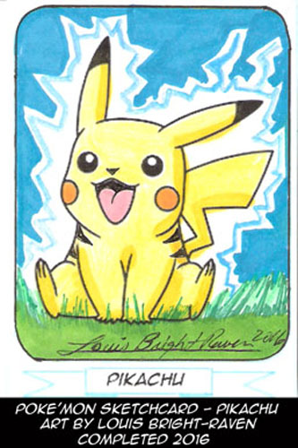 Pikachu Sketchcard (Available) by Bright-Raven