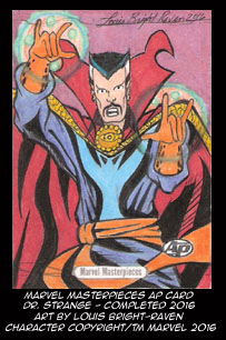 Marvel Masterpieces AP Card Dr. Strange- available by Bright-Raven