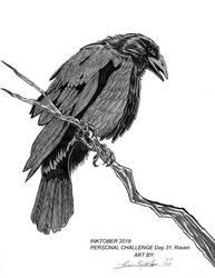 Inktober 2019 Personal Challenge Day 31: Raven