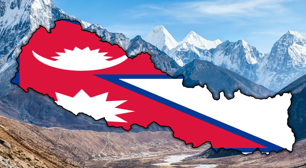 Nepal flag map by AmericanMapping on DeviantArt