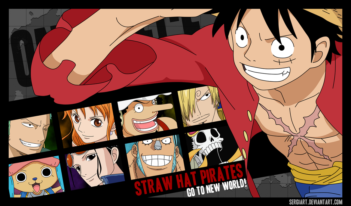 straw hat pirates go to the new world by sergiart on
