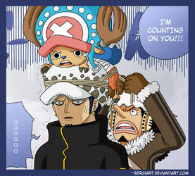 Trafalgar Law's new hat by SergiART