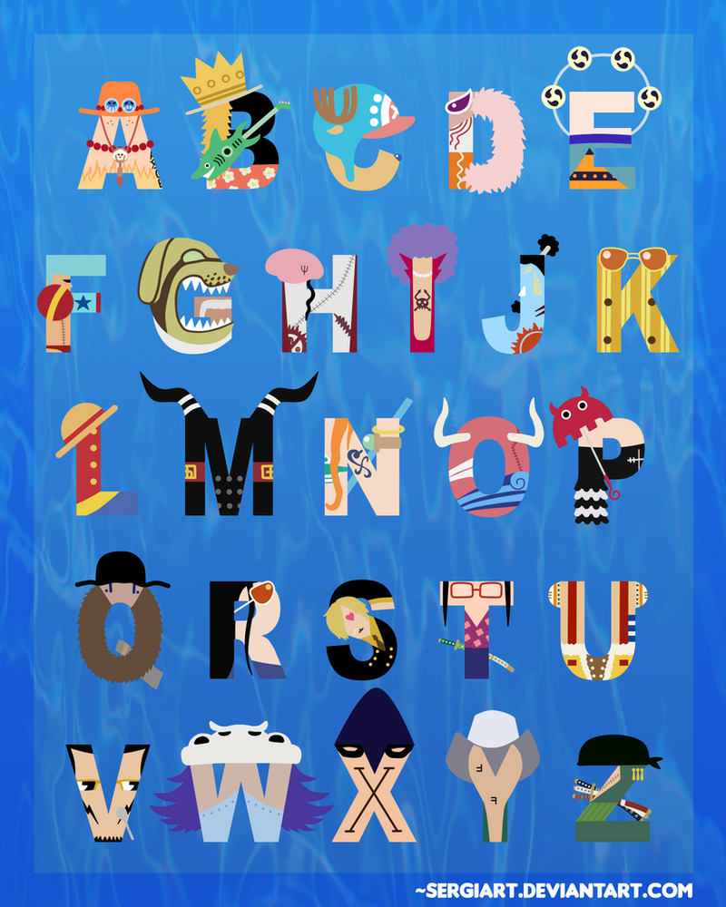 Anime Characters With 3 Letter Names : One piece alphabet by sergiart on deviantart