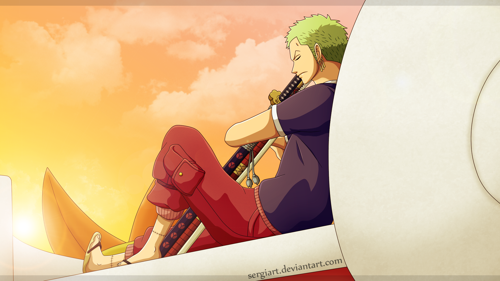 One Piece - Waiting for a new day by SergiART