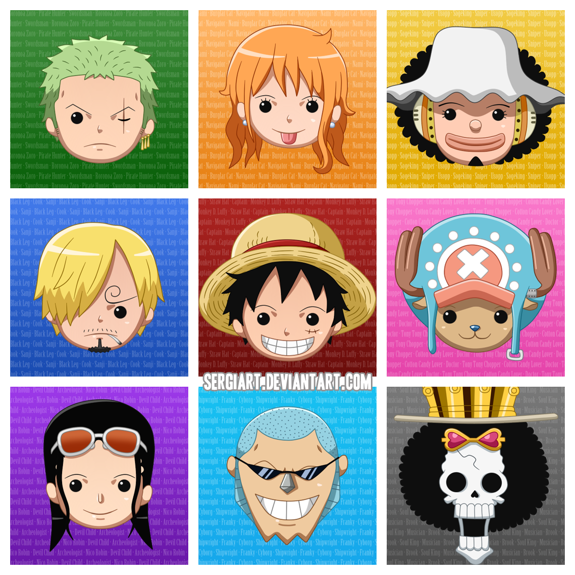 Chibi One Piece Characters