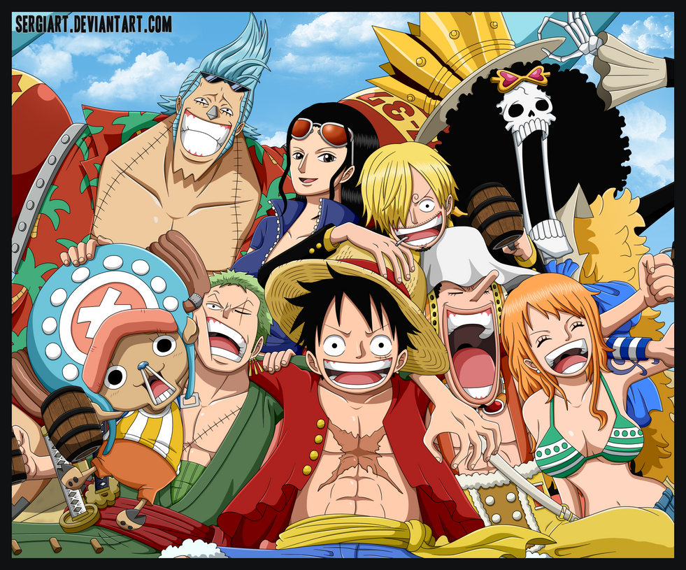 One Piece - Straw Hat Pirates by SergiART