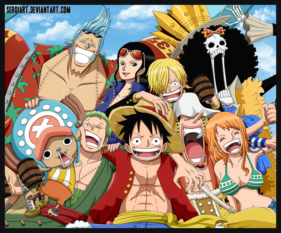One Piece - Straw Hat Pirates by SergiART
