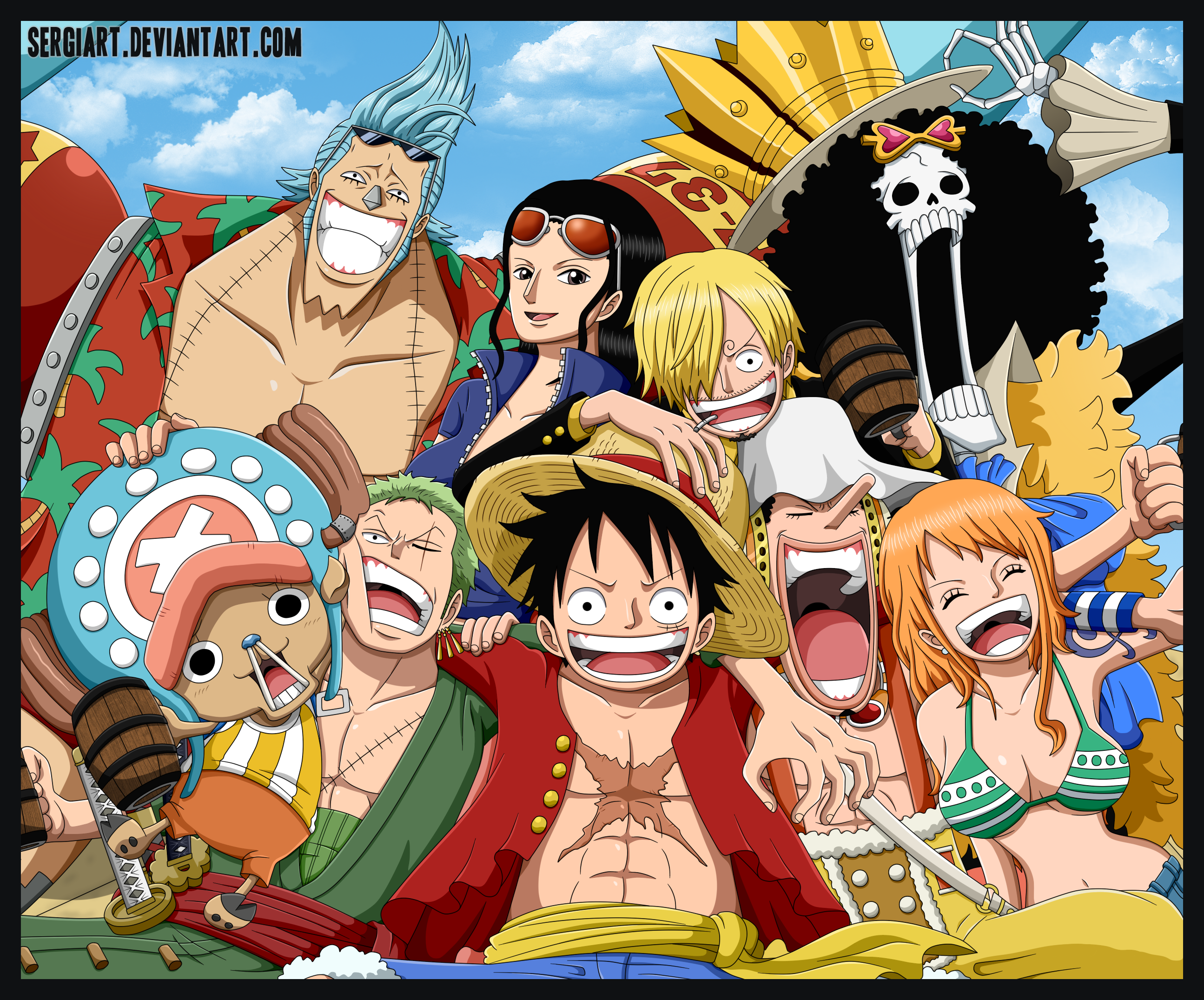 One Piece - Straw Hat Pirates by SergiART on DeviantArt