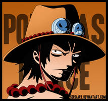 One Piece - Portgas D. Ace by SergiART