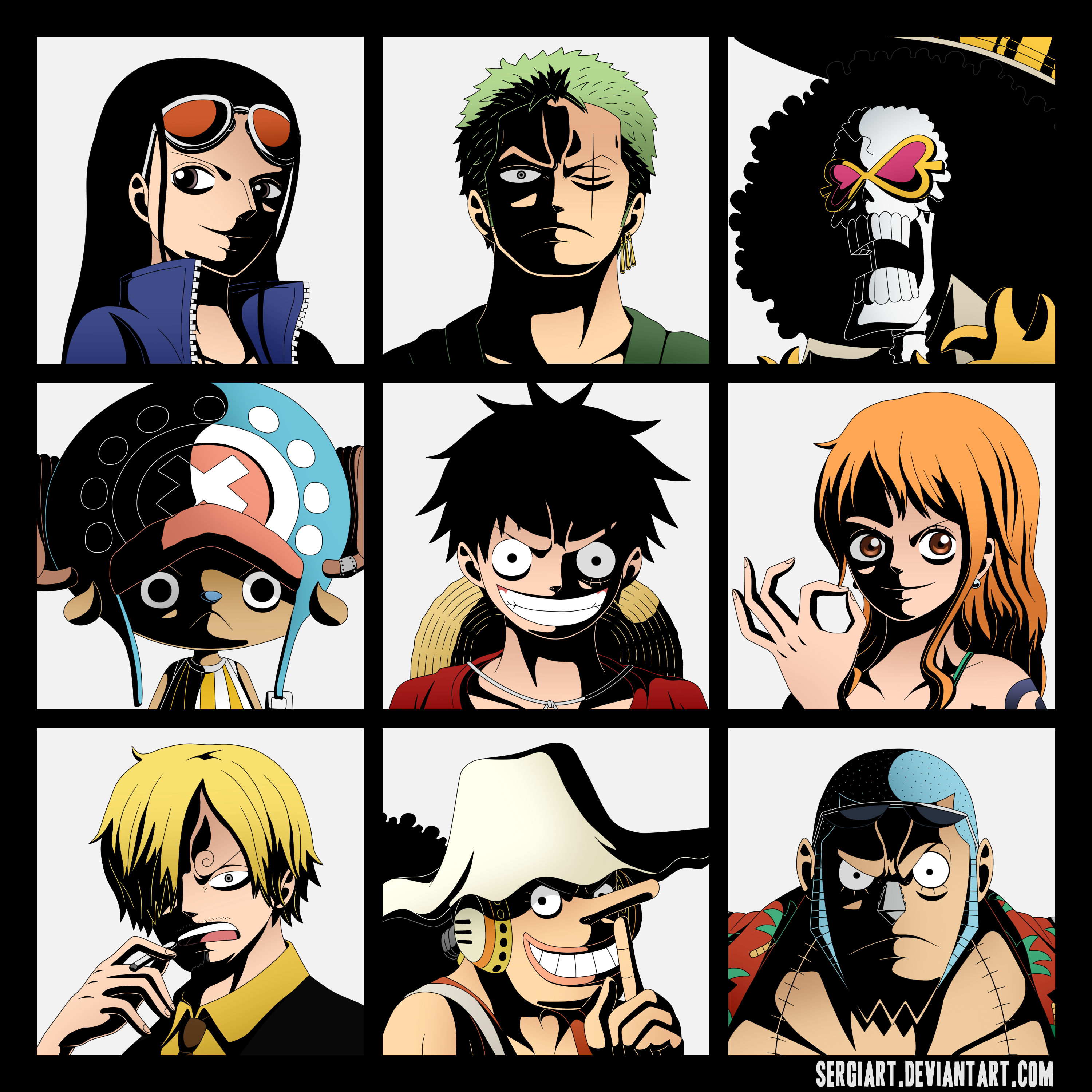 One Piece - The Nine Pirates by SergiART