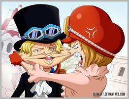 One Piece 760 - Revolutionaries at work by SergiART