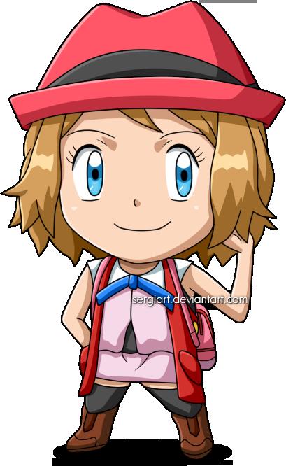 Pokemon Chibi Serena By Sergiart On Deviantart