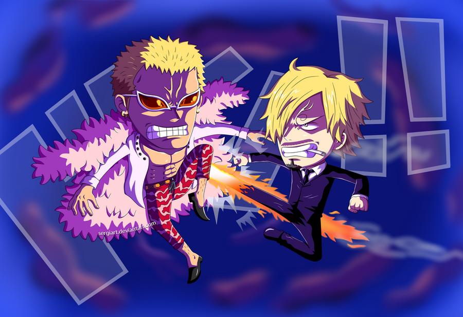 Doflamingo Wallpaper 3d One Piece - Sanji vs D...