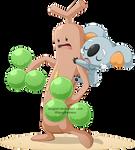 Pokemon Sun and Moon - Sudowoodo and Komala