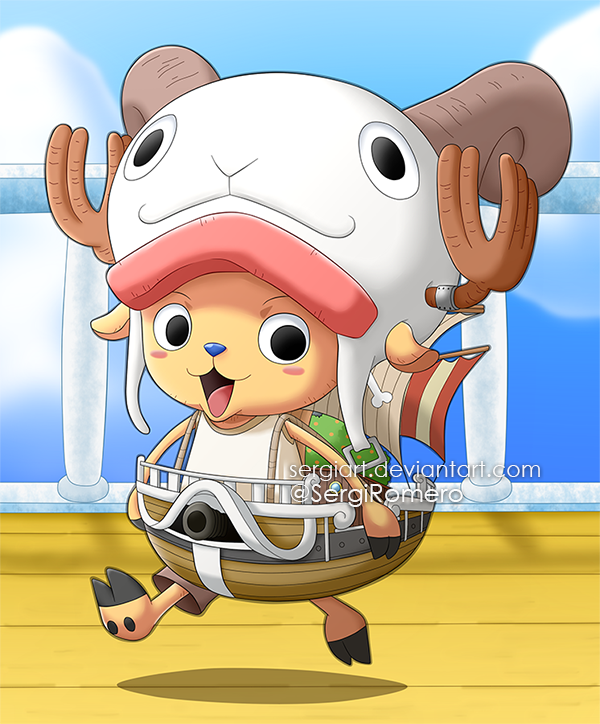 one piece chopper the mini merry by sergiart on deviantart