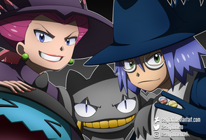Pokemon - Halloween Team Rocket by SergiART