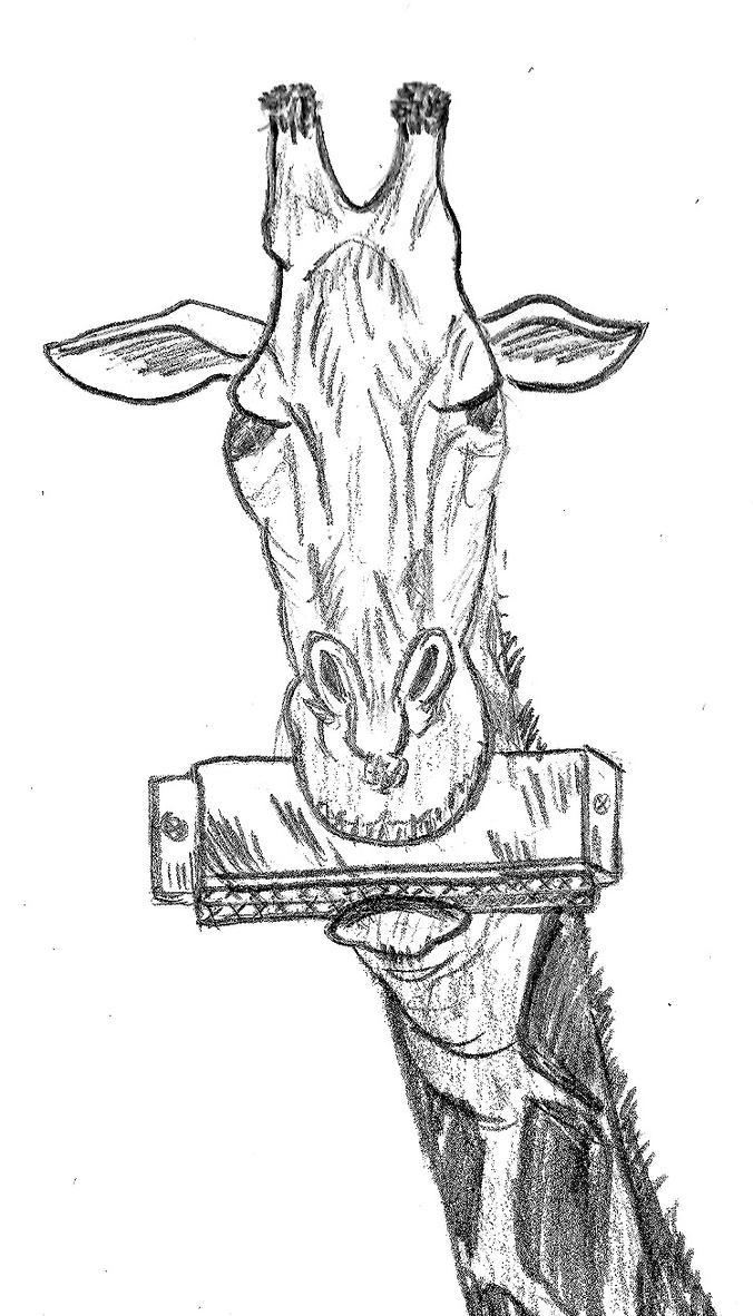 Giraffe Playing A Harmonica by paul281f on deviantART