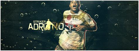 Adriano Football Signature by DavidVilla7
