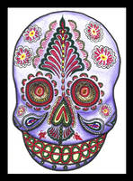 Mexican Day of the Dead mask by mkonji