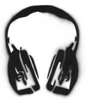 head phones stencil by mkonji