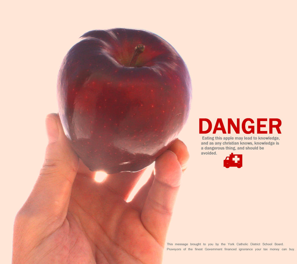 The Most Dangerous Apple by KeswickPinhead