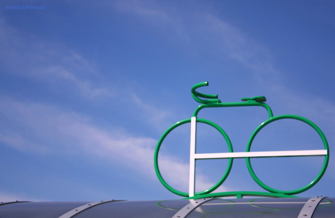 Go Logo Bike Parking Sign by KeswickPinhead