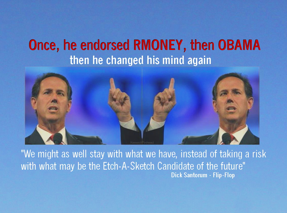 Rick Santorum is no Etch-A-Sketch by KeswickPinhead