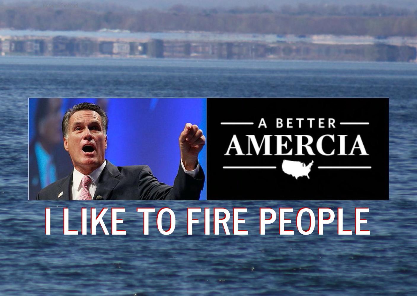 Mitt Romney should be fired by Mitt Romney by KeswickPinhead