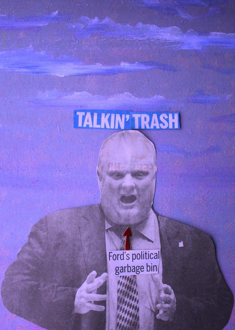 Rob Ford's Political Garbage Bin by KeswickPinhead