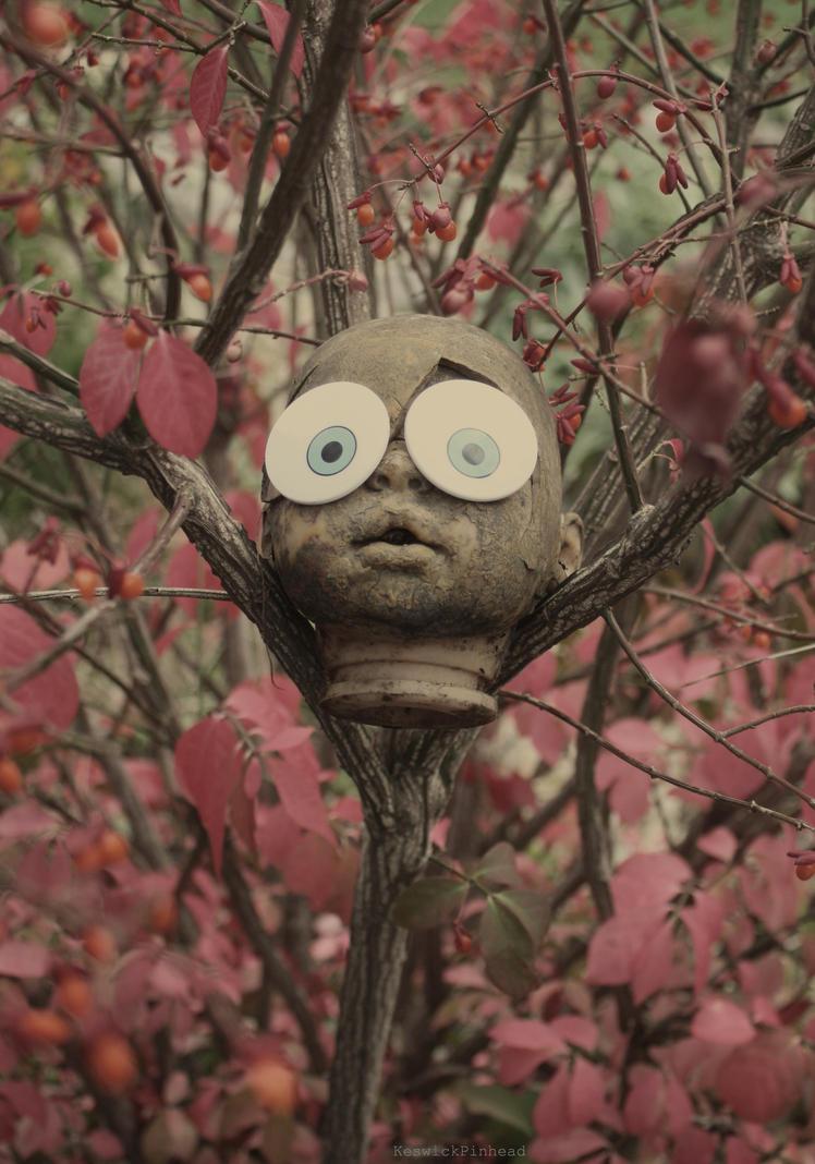 Doll Head Spongebob Eyes Burning Bush by KeswickPinhead