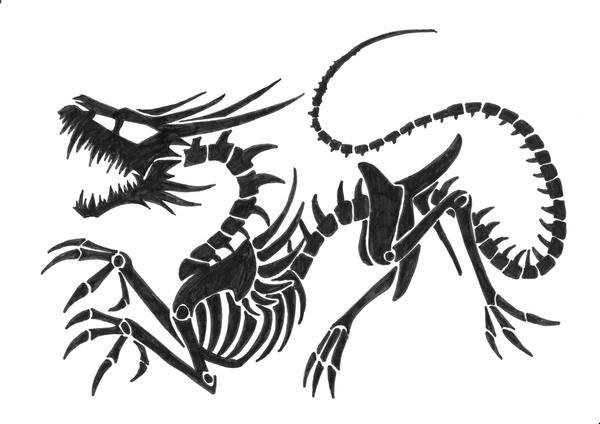Skull Dragon by Revie6661