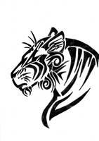 Tribal Tiger by Greenyfoxy