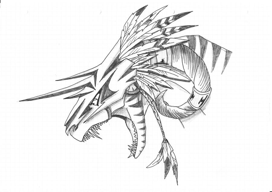 Dragon Armor Drawings Sketch Coloring Page