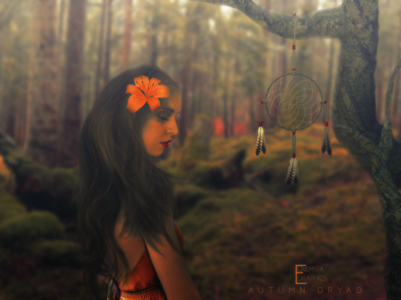 Autumn Dryad by ecnemsia