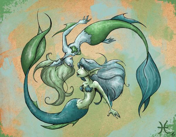 Pisces Mermaids By Paper Starz