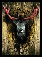 'THREE KINGS - Stag' (digital prep) by Artby2Heads