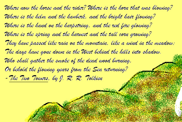Tolkien Poem Background by DawnFire360